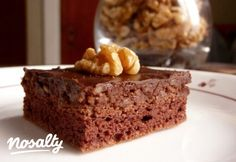 Dió-csokoládés kocka | Nosalty Krispie Treats, Rice Krispies, Naha, Paleo Diet, Paleo Recipes, Banana Bread, Bakery, Sweet, Dios