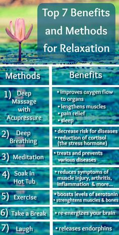 top 7 benefits and methods for relaxation