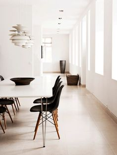 Black Eames Dining Chairs | Louis Poulsen Pendants