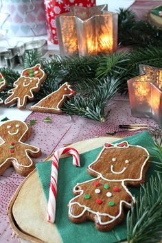 Lebkuchenmännchen Platzkarten / Customized Gingerbread Man Place Cards