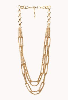 Goddess Layered Chain Necklace   FOREVER21 - 1000088401