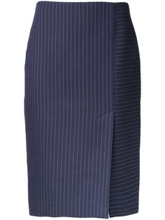 Latitude pinstripe skirt Source by innadawid. Office Skirt, Pencil Skirt Outfits, Latest African Fashion Dresses, Dion Lee, Straight Skirt, Stripe Skirt, Mode Style, Classy Outfits, Rock