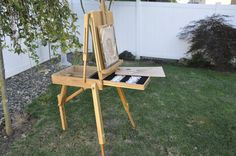 Tripod French Folding Art Easel - Wooden Sketch Box, Folding And Potable