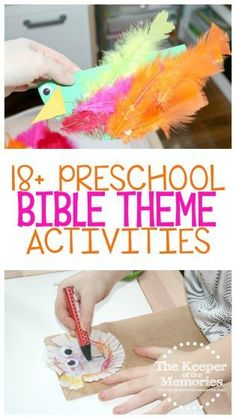 If you're a preschool teacher or homeschool mom, then you're definitely going to want to check this out. Find crafts and activities to go along with your favorite bible stories. This post is full of Bible Story Crafts, Bible Crafts For Kids, Craft Projects For Kids, Bible Stories, Preschool Bible Crafts, Kids Bible, Diy Projects, Sensory Activities Toddlers, Kids Learning Activities