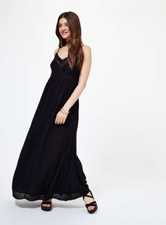 Black Strappy Maxi Dress - View All - Sale & Offers - Miss Selfridge