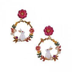Resin Flower Fashion Girls Clip-on Earrings