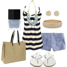 I love the nautical feel...     Created by htotheb on Polyvore