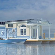water, model, houseboats, decorating blogs, small places, hous boat, room decorating ideas, dream houses, design