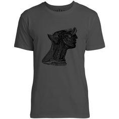Mintage Arteries of the Neck Mens Fine Jersey T-Shirt (Vintage Black)