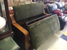 Antique Kroehler Quarter sawn Oak Love Seat Settee Sleeper Sofa Arts and Crafts #MissionArtsCrafts