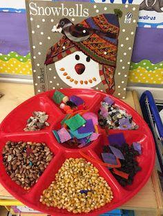 Winter literacy activity using the book Snowballs by Lois Ehlert Winter Fun, Winter Theme, Winter Ideas, Pre K Activities, Winter Activities, Kindergarten Literacy Stations, Early Literacy, Kindergarten Classroom, Classroom Ideas