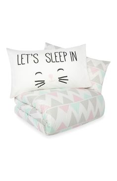Primark - Gabriella Cat Face Double Duvet Set