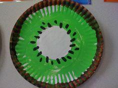 preschool paper plate kiwi fruit craft