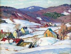 January 30, 2013 Close Look At Aldro Hibbard's Winter Paintings Sold at the James D. Julia Art Auction! John Gale's collection. | Plein Aire in Maine