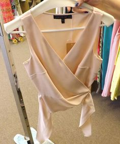 Pink Tie Front Blouse