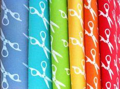 Tecidos estampados coloridos