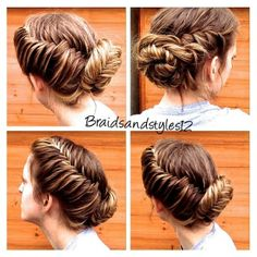 Frozen Updo , Elsa Braid , Elsa inspred Hair , Frozen Inspired Hair, Fishtail Updo