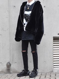 NIKE × ACW Grunge Outfits, Grunge Fashion, Boy Fashion, Boy Outfits, Fashion Outfits, Casual Outfits, Streetwear Mode, Streetwear Fashion, Ulzzang Fashion