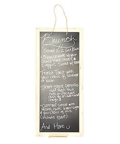 Loving this Cream Hanging Chalkboard Sign on #zulily! #zulilyfinds