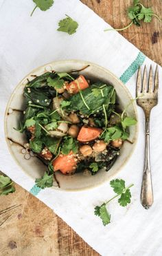 Sweet potato and swiss chard quinoa bowls with miso sauce. Tasty, festive, and vegan to boot!