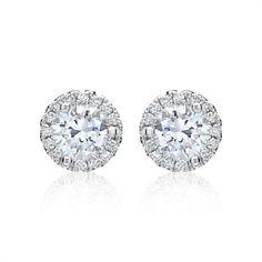Diamant-Ohrstecker 0,13 ct gesamt 750er Weißgold DE0050 http://www.thejewellershop.com/ #ohrschmuck #weißgold #diamantohrschmuck #schmuck #ohrringe #ohrstecker #heart #jewelry #diamonds