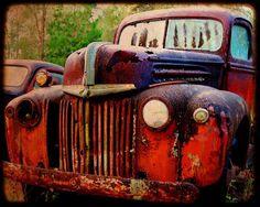 SALE 8 x 10 Wood Mounted Old Hank Rusty by kellywarrenphotoart