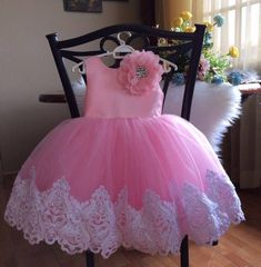 Princess dress / pink dress / couture kids /birthday dress / baby girl/ first birthday Pagent Dresses For Kids, Little Girl Dresses, Girls Dresses, Baby Frocks Designs, Plus Size Cocktail Dresses, Dress Sewing Patterns, Birthday Dresses, Dress With Bow, Baby Dress