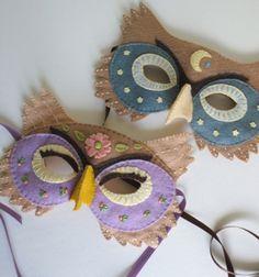 DIY Felt owl mask tutorial / Filc bagoly maszkok farsangra / Mindy