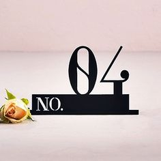 Double Digit Style Black Acrylic Table Number (Numbers 1-9 Available)