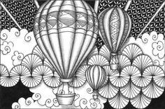 art zentangle balloons - Buscar con Google