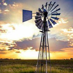 Windmill, Wind Turbine, Afrikaans, Sunset, Nature, Lisa, Beautiful, Sunsets, Naturaleza