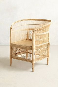 Natural wicker chair from South Africa.