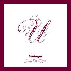 Weingut OT published by FaceType. #fonts #fontshop