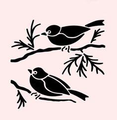 "SPARROW STENCIL SPARROWS BIRDS STENCILS BIRD BRANCHES CRAFT TEMPLATE NEW 7"" X 5"""