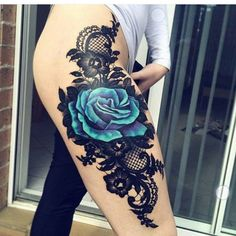 95+Intriguing+Thigh+Tattoos+Ideas+For+Women+-+Be+Attractive