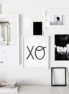 Xo print xoxo hugs and kisses wall decor typography by ColourMoon, $12.00