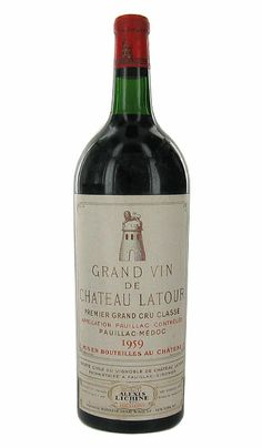 Vintage Wine Chateau Latour - First Growth. Premier Grand Cru Classe in Wine And Liquor, Wine And Beer, Chateau Latour, Wine Chateau, Wine Searcher, Vintage Wine, Vintage Cups, Vintage Ideas, Vintage Designs