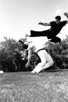 Flying side kick... not as practical as one may think for everyday use