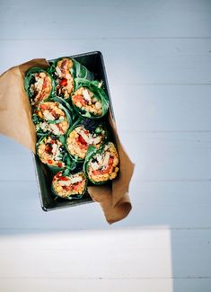 Tomato Basil Collard Wraps with Grilled Tempeh - The First Mess