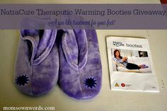 NatraCure Therapeutic Warming Gel Booties Giveaway and Review 2/1
