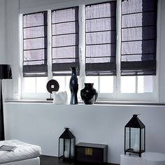 store bateau en tissu prisme gris et store bateau en voile lys gris collection heytens 2016. Black Bedroom Furniture Sets. Home Design Ideas