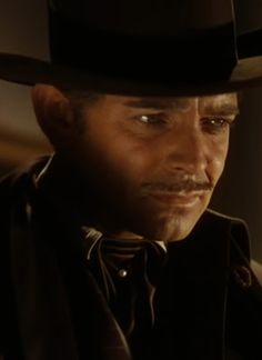 Rhett Butler as played by Clark Gable in Gone With The Wind