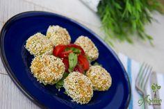 Chiftelute de naut cu susan la cuptor Eggs, Breakfast, Recipes, Food, Egg, Recipies, Hoods, Meals