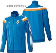 1337800dec8 New Adidas Real Madrid Anthem Soccer Track Blue Football Jacket Top Shirt |  eBay Football Jackets