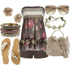 I love the floral, the bracelet, and the shoes...so perfect for summer, reminds me of a Pacific Beach day in San Diego