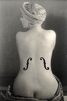 """Curvature. Love the double entendre of this photo (Man Ray)  Actually this is poking at an Ingres painting implying that Ingres """"plays women"""". Lol love man ray"""