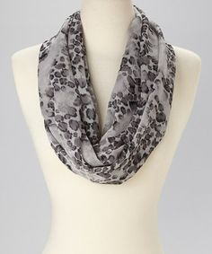 Look what I found on #zulily! Gray Animal Infinity Scarf by Neli Hamilton #zulilyfinds