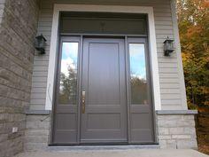 Portes d'entrée en bois - Portes Bourassa Front Doors, Entry Doors, Garage Doors, Entryway, Modern Entry Door, Choices, Windows, Flat, Architecture
