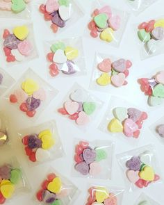 Valentines Day lolly bags featuring candy conversation hearts and the yummiest pink jellybeans! www.theboutiquebox.com.au