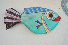 Wood fish home decor - Fish wall hanging - Fish wall decor